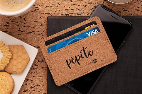 Porte-cartes anti-RFID en liège naturel